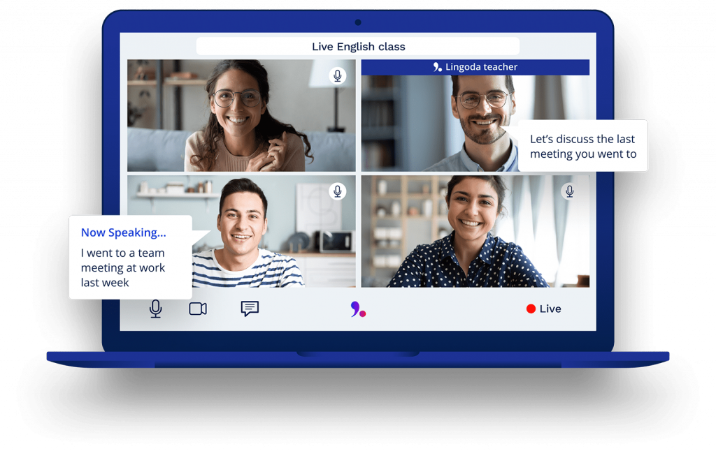 Lingoda offers online language learning classes in four different languages