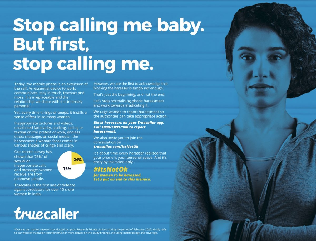 Truecaller's new campaign fights against the harassment of women