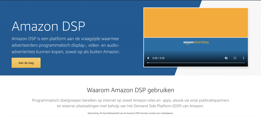 The Amazon DSP offers many opportunities for Dutch advertisers